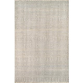 Transitional Tan Lambswool Rug - 6' x 9' For Sale