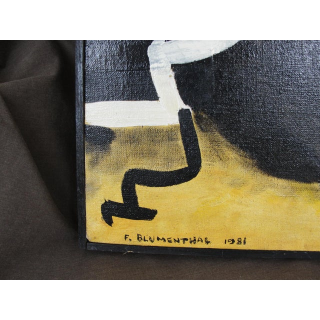 Vintage Abstract Expressionist Oil on Canvas Painting - Image 6 of 8