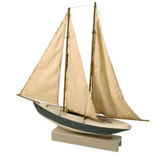 Large Blue and White Sail Boat