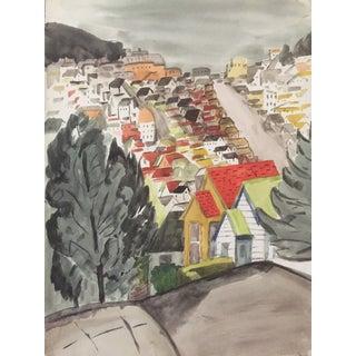 Watercolor of San Francisco's Hills