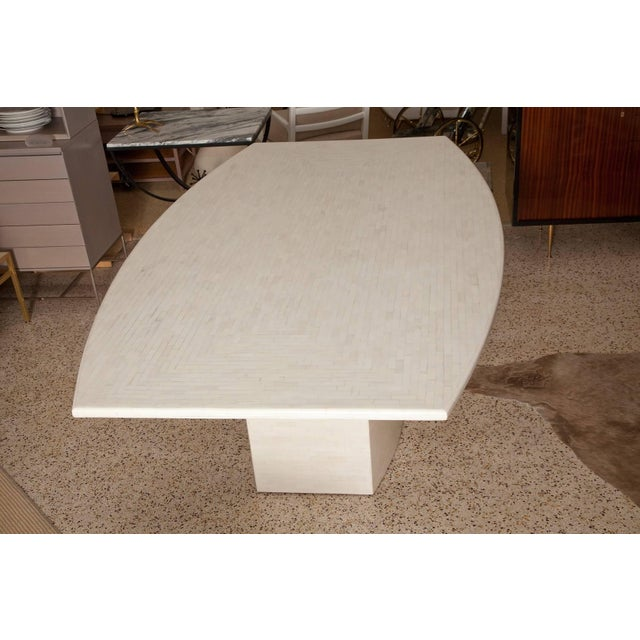 Enrique Garces Tessellated Bone Dining Table by Enrique Garces For Sale - Image 4 of 11