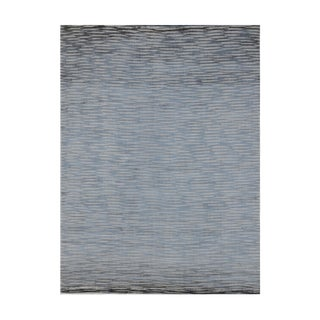 Vintage Hand Knotted Modern Wool & Viscose Rug- 6x9 For Sale