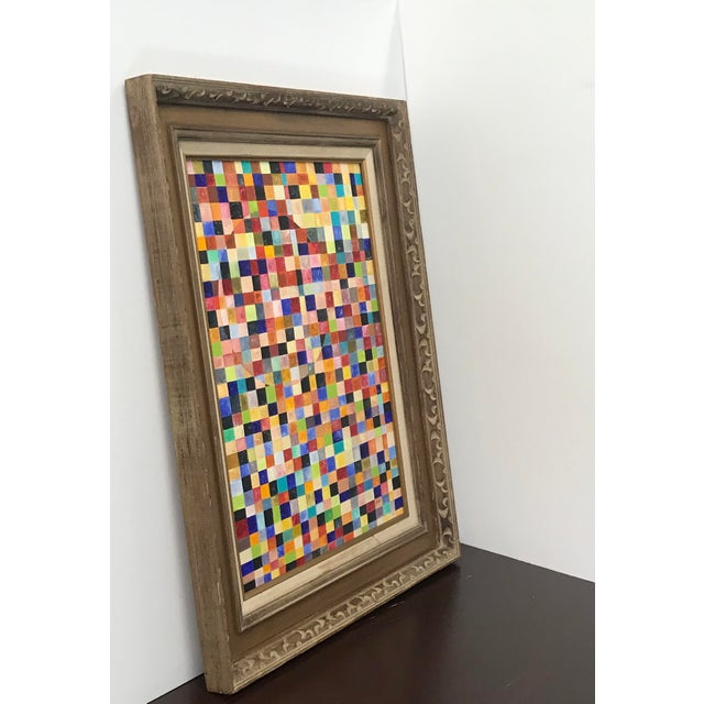 Contemporary Abstract Framed Painting For Sale In Greensboro - Image 6 of 7