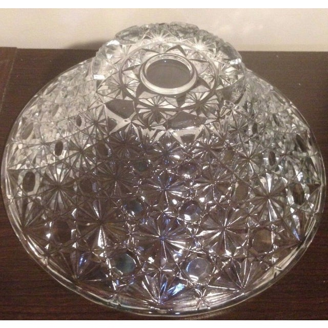Vintage Cut Lead Crystal Bowl For Sale In New York - Image 6 of 11
