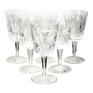 20th Century Art Deco Waterford Crystal Lismore Water Goblets - Set of 6 For Sale