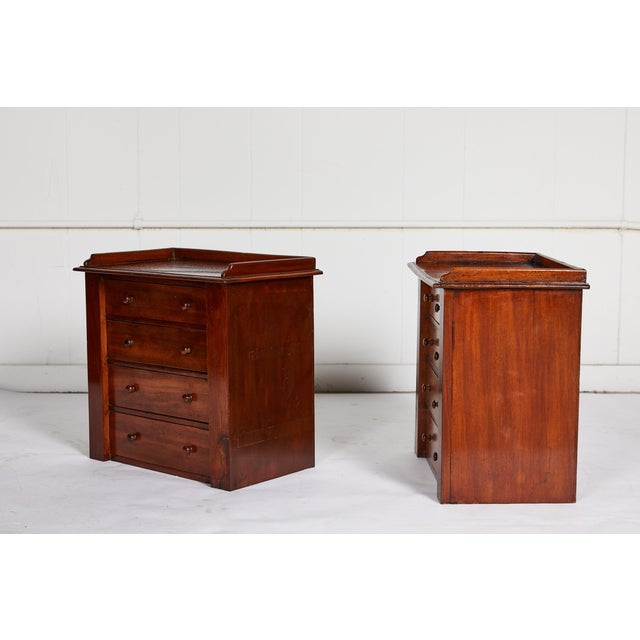 English Pair of Petite English Mahogany Chests For Sale - Image 3 of 10