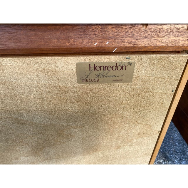 Brown 1980s Henredon Burl Nightstand Tables with Granite Tops - a Pair For Sale - Image 8 of 13