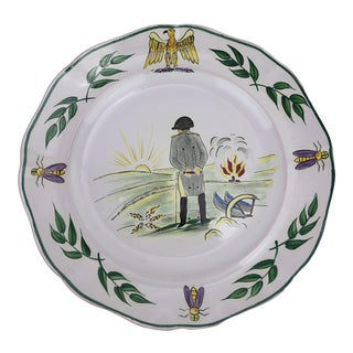"""Early 20th Century Napoléon Longwy Plate """"L'Empereur"""" For Sale"""