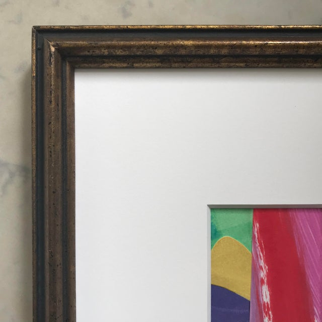 Original Abstract Collage in Vintage Frame For Sale - Image 4 of 9