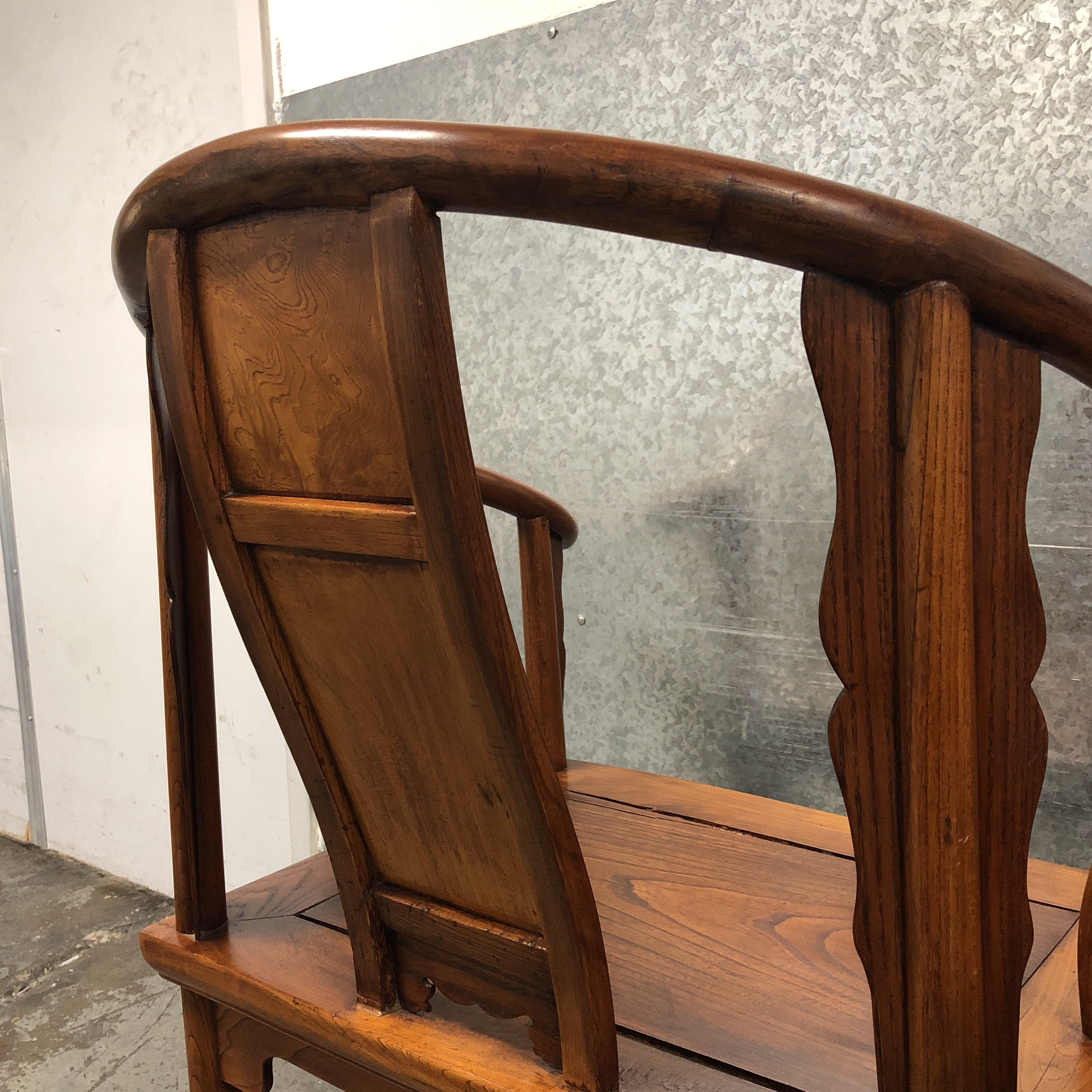 Incroyable Chinese Elm Wood Chairs   A Pair For Sale   Image 9 Of 10