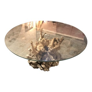 1970's Root Burl Coffee Table For Sale