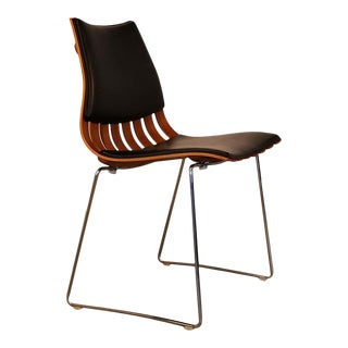 Hove Mobler Mid Century Hans Brattrud Teak Padded Scandia Chair For Sale