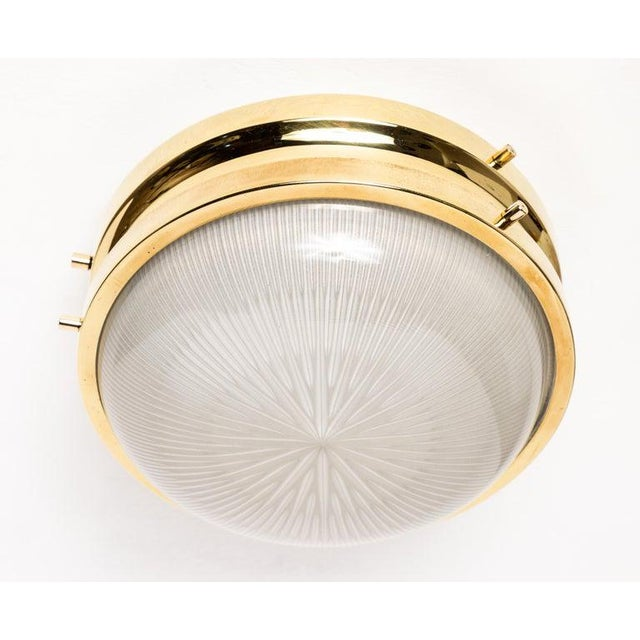 1960s Sergio Mazza Brass 'Sigma' Wall or Ceiling Light for Artemide For Sale In Los Angeles - Image 6 of 13