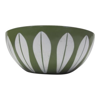 1970s Green Enameled Catherineholm Lotus Bowl For Sale