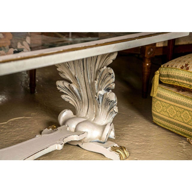 Glass Shell Verne Églomisé Top Coffee Table For Sale - Image 7 of 9