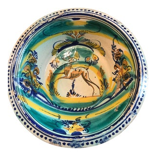 20th Century Italian Pottery Bowl For Sale