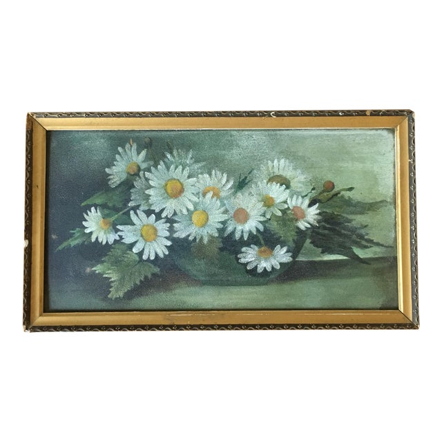 Vintage Painting of Daisies For Sale