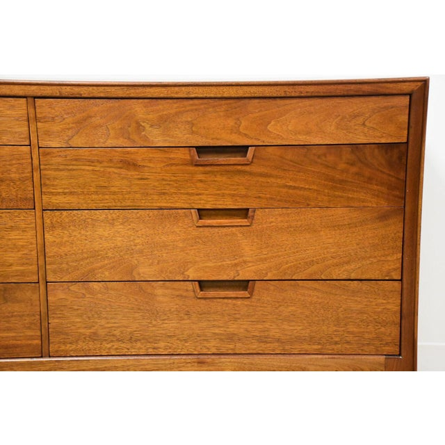 Janus Collection Mt. Airy Walnut Dresser For Sale - Image 9 of 11