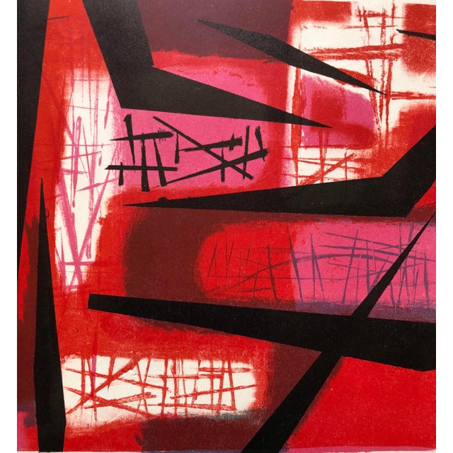 """Abstract Signed Jerry Opper Bay Area Artist Abstract Print """"Frame of Reference"""" For Sale - Image 3 of 10"""