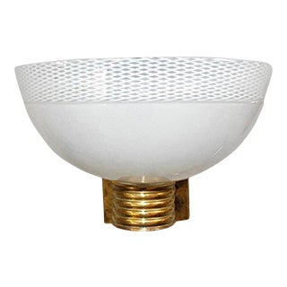Murano Glass Bowl Sconce by Venini For Sale