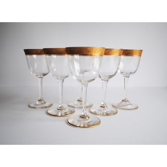 Gold Encrusted Cocktail Glasses - Set of 6 - Image 2 of 4