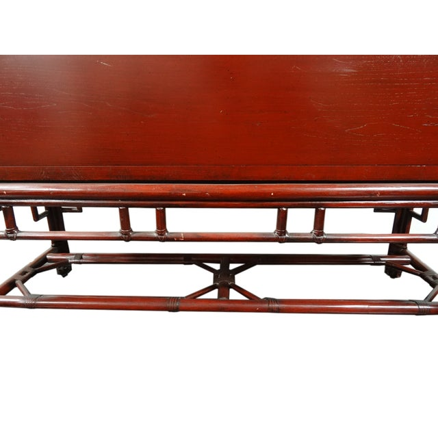 Ficks Reed Red Asian Sideboard Console - Image 11 of 11