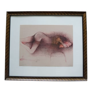 """Late 20th Century """"Suite"""" Bruni Nude Woman Lithograph For Sale"""