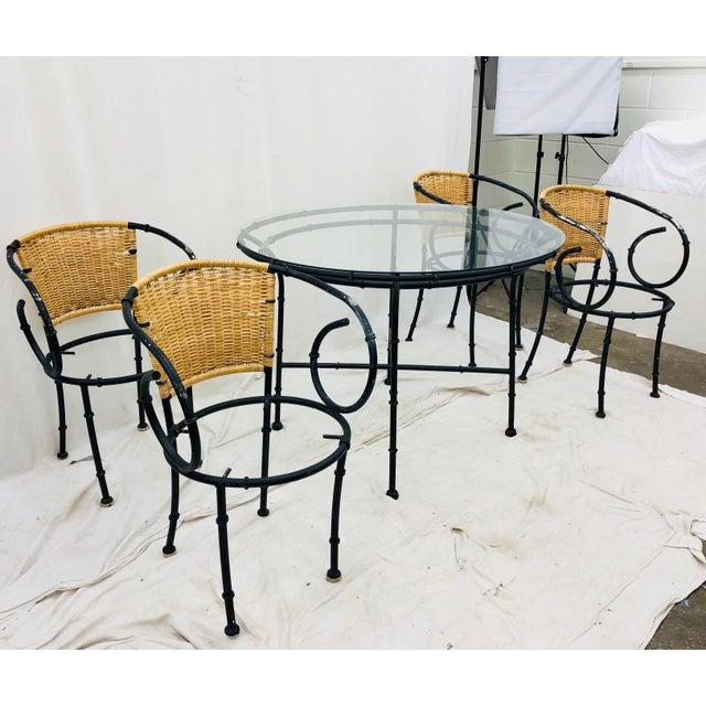 Brown Vintage Regency Style Dining Set For Sale - Image 8 of 12