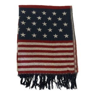 American Flag Cashmere Throw For Sale