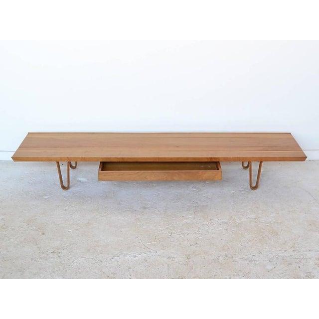 Edward Wormley Long John Bench/ Table by Dunbar - Image 4 of 9