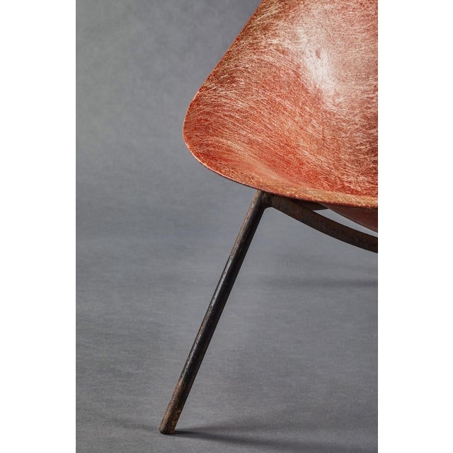 Red An Early French Ed Merat Fiberglass Easy Chair For Sale - Image 8 of 9