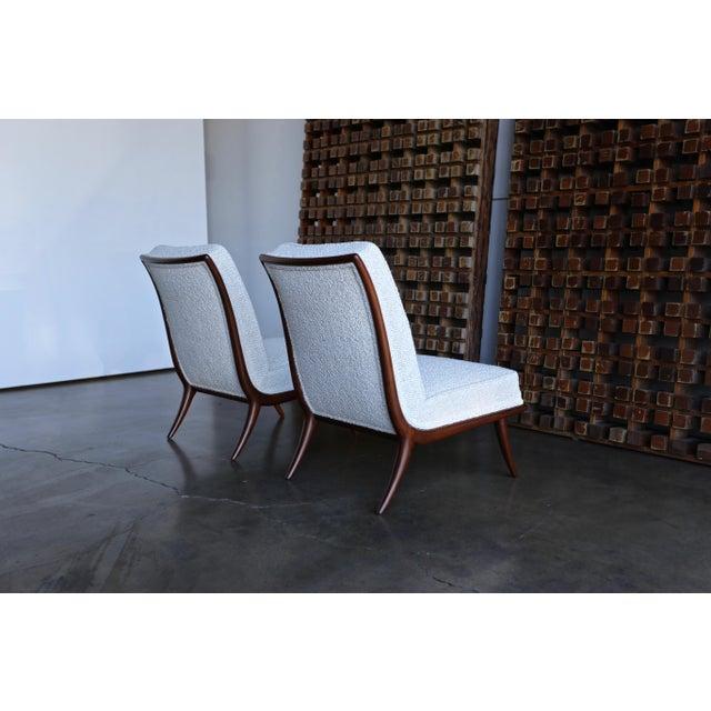 T.H. Robsjohn-Gibbings for Widdicomb Slipper Chairs - a Pair For Sale - Image 10 of 12