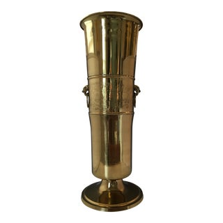 Brass Chinoiserie Umbrella Stand