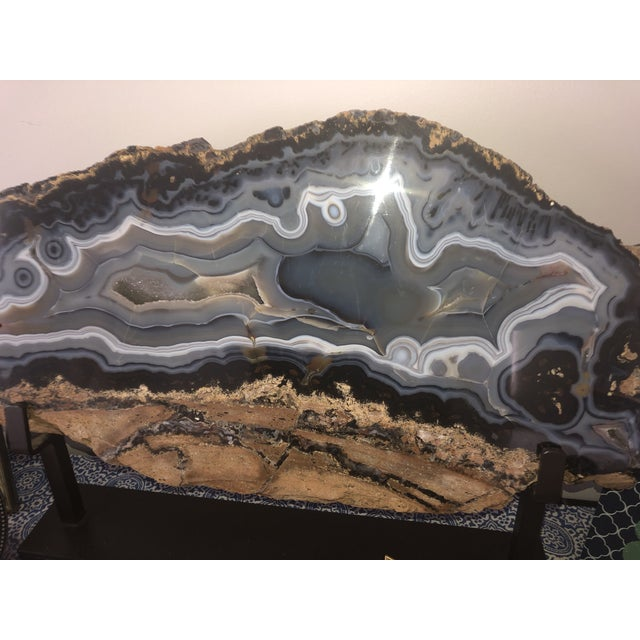 Giant Agate Geode on Stand For Sale - Image 10 of 11