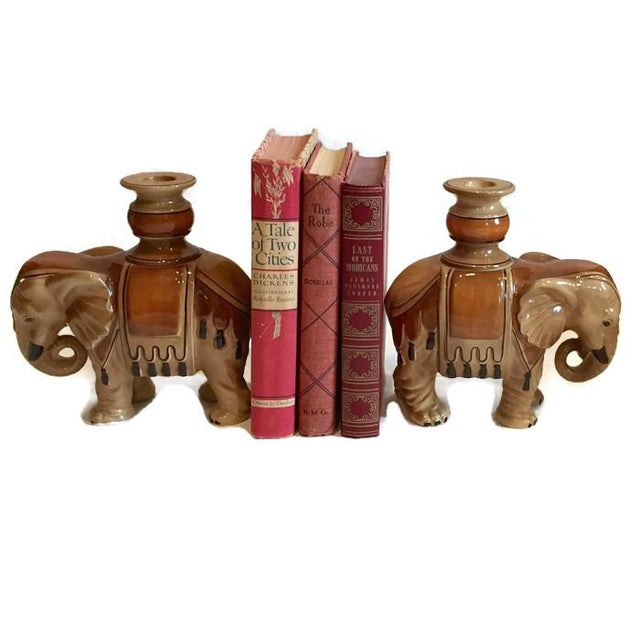 Fitz & Floyd Elephant Candle Holders - A Pair For Sale - Image 10 of 10