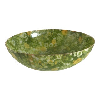 Mid-Century Modern Large Acrylic Floral Bowl For Sale