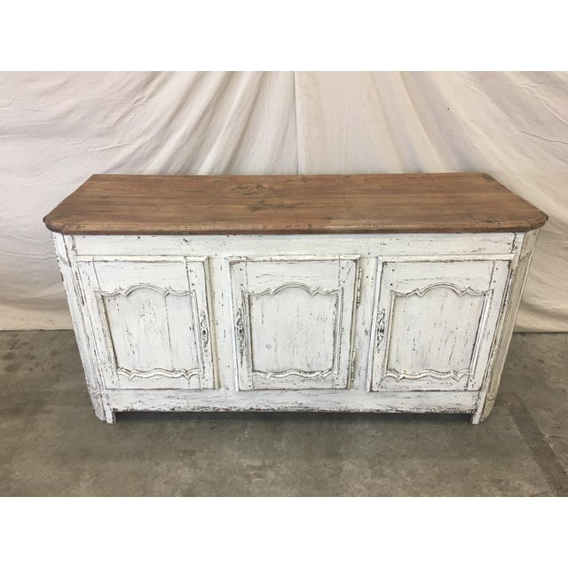 French 18th C French Provencal Three Door Painted Enfilade Sideboard For Sale - Image 3 of 13