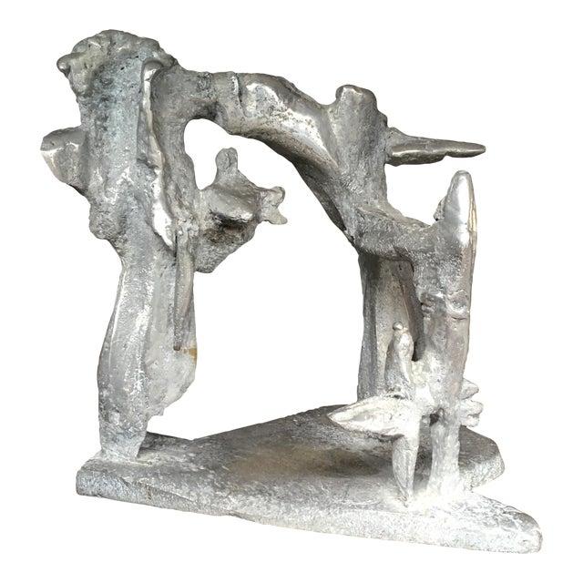Aluminum Cast Brutalist Sculpture - Image 1 of 11