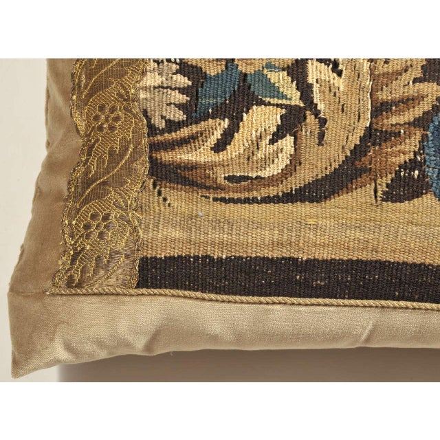 Mid 19th Century 19th Century Tapestry Pillow For Sale - Image 5 of 7