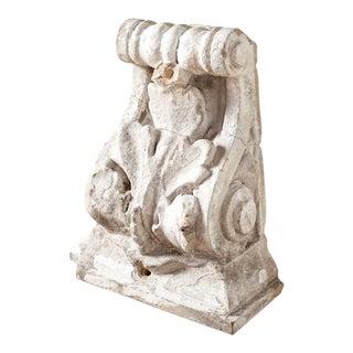 Antique White Plaster Corbel Fragment