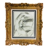 Image of 1970s Baroque Academy Style Female Nude Study For Sale