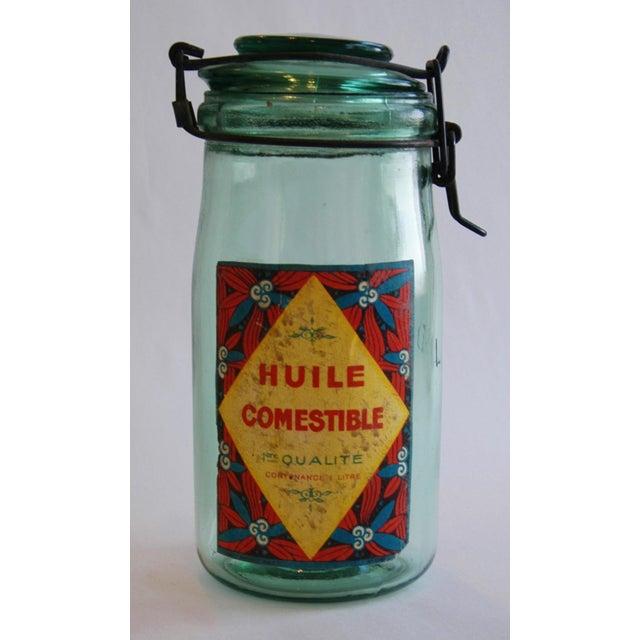 1930s Vintage French Labeled & Lidded Canning Preserve Jars - Set of 3 - Image 6 of 8