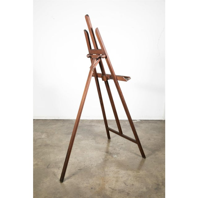 20th Century French Adjustable Oak Painters Easel For Sale - Image 10 of 10