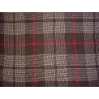 F Schumacher Montana Wool Plaid Java Soft Black Upholstery Fabric - 5 1/8 Yards For Sale