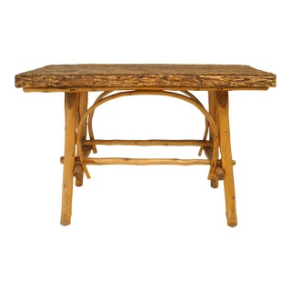 Rustic Adirondack Elm Center Table For Sale