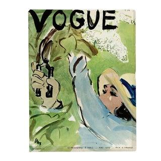 """""""Vogue Paris, May 1936"""" Original Vintage Fashion Magazine Cover For Sale"""