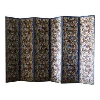 Late 19th C. French Wallpaper Screens For Sale