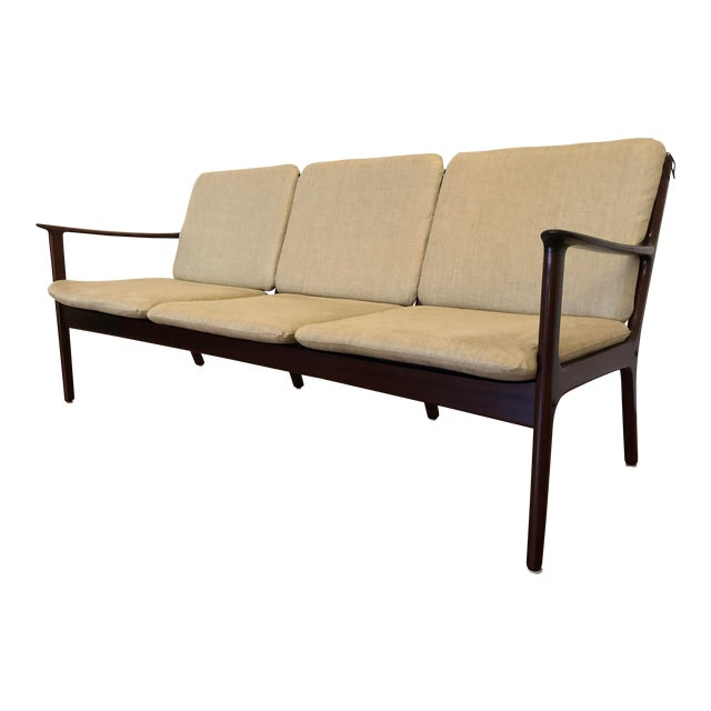 Vintage Mid Century Modern Sofa by Ole Wanscher for Poul Jeppesen For Sale