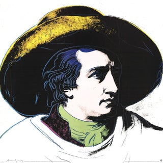 Andy 1990, Goethe Black and Yellow (Lg), Offset Lithograph, 1990 For Sale