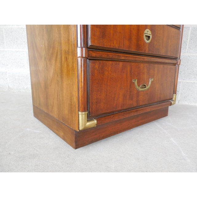 Drexel Heritage Accolade Campaign Style Armoire For Sale - Image 9 of 11
